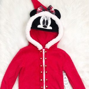 Disney Parks Minnie Mouse Holiday Fleece Hoodie